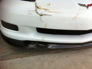 E-Brake Fail: ZR1 Rolls Down Steep Driveway Into Trailer