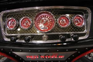 SEMA 2011: Classic Instruments New Red Steelie V8 Speedster Gauges