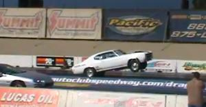 Impressive Wheel Stand Pulled Off By '70 Chevelle at Fontana
