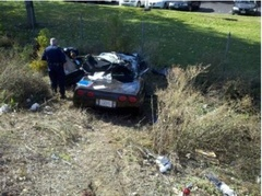 Sacramento California Corvette Crash Claims One Life