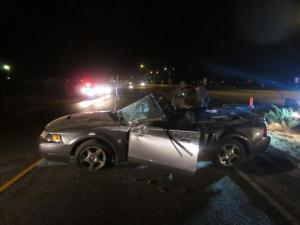 Mustang Rollover Sends Two Teens to Hospital