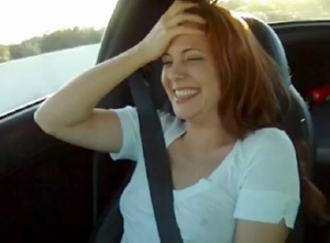 Video: All-Natural Lady Takes A Ride In A Twin-Turbo Z06 Corvette