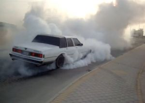 Another Box Chevy Massive Burnout, This Time From the Middle East