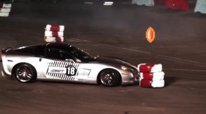 C6 Corvette Puts On A Smoke Show At A Redbull Drift Event In Kuwait