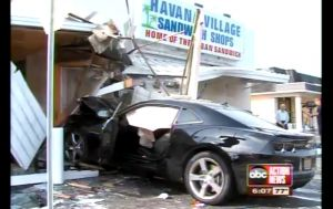 Video: 5th Gen Camaro SS Smashes Up Sandwich Shop in Tampa