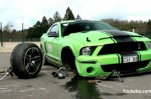 Green Shelby Crash