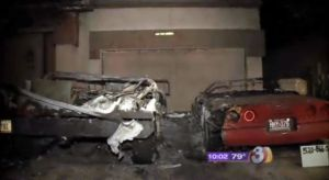 Wrecked Vette Wednesday: Arsonist Destroys A C4 Corvette And An H1