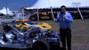 Video: Corvette ZR1 Full-Car Cutaway On Display at Barrett-Jackson