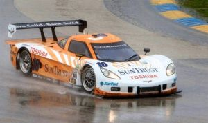 Corvette Wins Prototype Class At Rainy Grand Am Race
