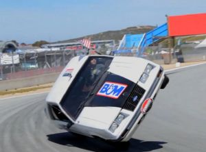 Video: Driving A Mustang Around Laguna Seca On Two Wheels