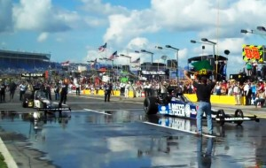 Video: Brown, Shoe Perform Side-By-Side Burnouts At NASCAR Coke 600