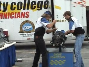 Engine Building Competition Shows Skills of Chrysler Tech Students