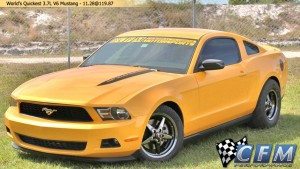 Video: Fastest 2011 3.7L V6 Mustang Yet Runs 11.11 at 124 mph.