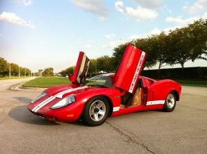 Old GT-40 Kit Car Converted Into Electric Vehicle