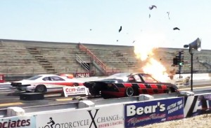 Video: Doorslammer Racer Mark Wisneski's Huge Nitrous Explosion