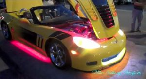 Video: Neon-Wielding Corvette Brings New Meaning to Individuality