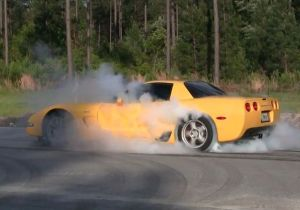 Video: Corvette Z06 Takes Care of Old Tires the Right Way
