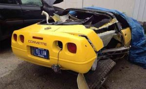 Wrecked Vette Wednesday: Unlicensed Teen Destroys Mom's C4 Corvette