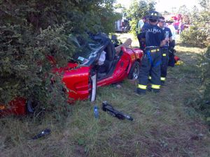 Wrecked Vette Wednesday: Driver Loses Control of C5 Corvette