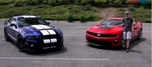 Video: Shelby GT500, Camaro ZL-1 Battle on the Track