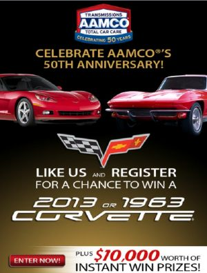 AAMCO Gives You The Choice of Which Corvette You Could Take Home