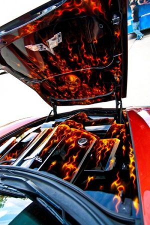 Video: Custom Corvette a Unique and Fiery Beast