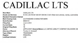 GM Trademarks LTS Moniker; Another Rear-Drive Cadillac Coming Soon?
