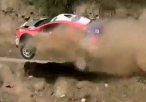 Video: Fiesta Rally Drivers Survive Scary Crash