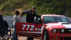 Disabled Drivers Given Wheel Time Behind Performance Mustangs