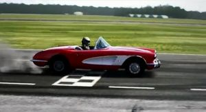 Video: The Stig Thrashing a &#8217;60 Corvette &#8211; Real or Simulated?