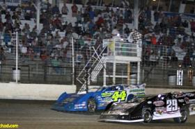 Photo of Lanigan's .024 Victory Over Smith At River Cities Speedway