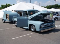 38. Linda Lupa's '53 F-100 with Trailer