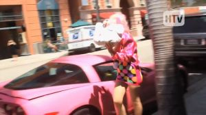 Video: Angelyne And Her Pink C6 Dodge The Paparazzi