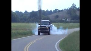 Video: Twin-Turbo Chevy Duramax Diesel Drift