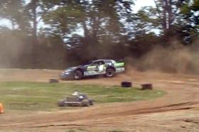 Video: Late Model Tears Up Go-Kart Track – Piloted By Hall Of Famer