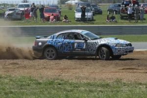 Young Rallycross Driver and his New Edge 'Stang