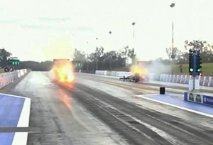 Video: Unbelievable, Must-See Top Fuel Matchup At ANDRA Winternats