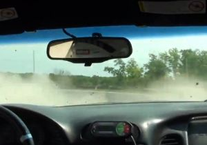 Video: Gravel Invades Corvette After High-Speed Spinout