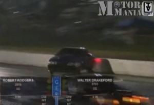 Video: Drag Racer Does All He Can To Save His Mustang From Wall