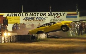 "Video: Jeff Wild's Wheelstanding Buick Crashes At ""Night Of Fire"""