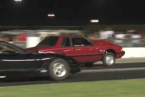 Video: C5 Corvette Takes Out Fox Body Mustang in Drag Strip Crash