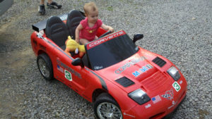 18-Month-Old Hayden Friend's Tricked Out Power Wheels Corvette