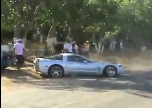 Video: C5 Corvette and Jeep SRT8 Almost Collide in Street Race