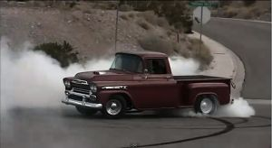 Video: &#8217;59 Chevy Apache Lights Em Up On Cue With Big-Block Power