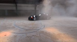 Video: LG Motorsports' C6 Z06 Does Warehouse Doughnuts