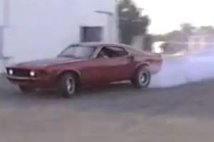 Video: '69 Mustang Drifting Ends With Shovel To The Head