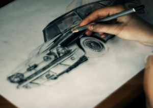 Video: Sketching Out A Classic Mustang