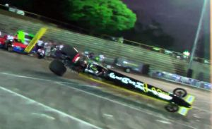 Video: Brazilian Top Alcohol Dragster Exhibition Goes Awry