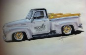Ford F-100 Pickup Rendering