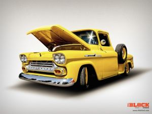 Get Your Vintage Chevy Apache Computer Wallpaper from The Block